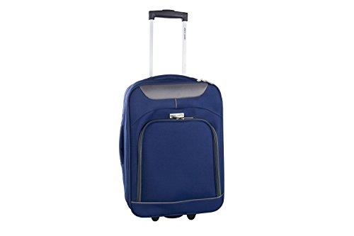 Valigia trolley semirigido PIERRE CARDIN blu mini bagaglio a mano ryanair