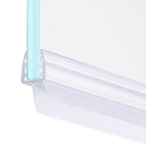 MAALIMA - 1x Duschtür Dichtung, Duschdichtung, Seal, 100 cm lange Gummilippe - für 6mm, 7mm, 8mm Glasdicke - Duschleiste mit Wasserabweiser, Spritzschutz an der Dichtung für Duschwanne (1x 100 cm)