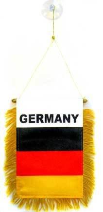 AZ FLAG Wimpel Deutschland 15x10cm - DEUTSCHE Mini Flagge 10 x 15 cm - Auto Pennant spezielle Auto