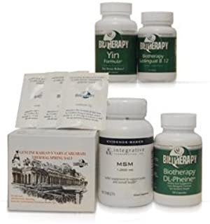 Biotherapy Chronic Inflammation of The Pancreas with Pain Kit (Includes: Karlovy Vary Healing Mineral Water, MSM, DL Phenine and Sublingual b12)
