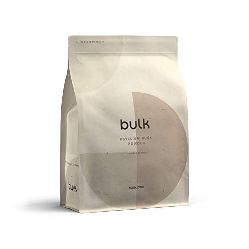 Bulk Pure Psyllium Husk Powder, High in Fibre, 1 kg, Packaging May Vary