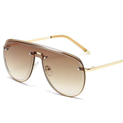 Gafas de Sol de Lente graduadas de Gran tamaño sin Montura cuadradas siamesas para Hombres Gafas de Tendencia Hombres Gafas 7