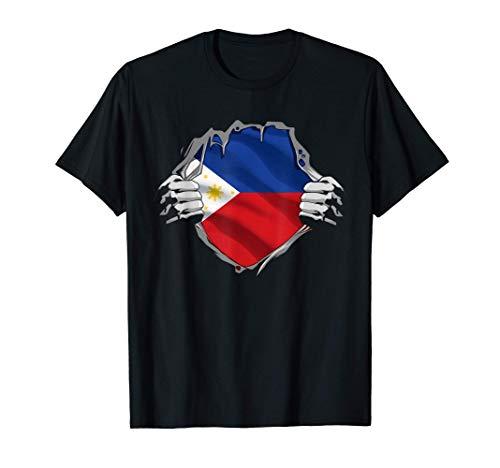 Super Filipino Heritage Shirt Philippines Roots Flag Gift T-Shirt