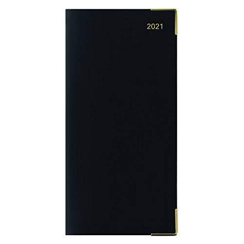 レッツ 手帳 2021年 1月始まり スリム ウィークリー ローマ ブラック 21-081237 正規輸入品