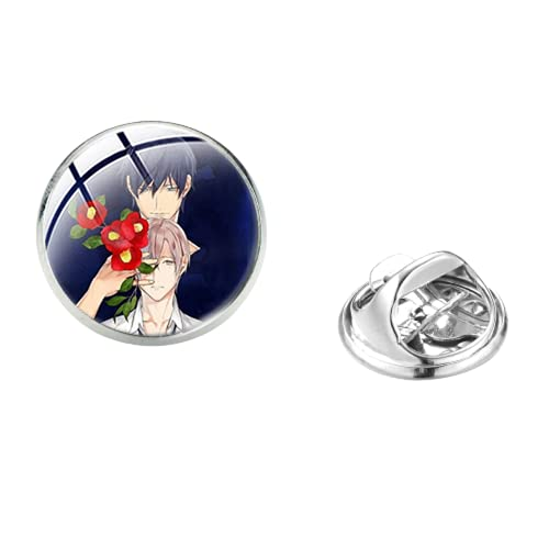 Anime TEN COUNT Broche hecho a mano de cristal cúpula Pin de acero inoxidable insignias de cosplay para bolsa de ropa, mochila decoración de fans regalo