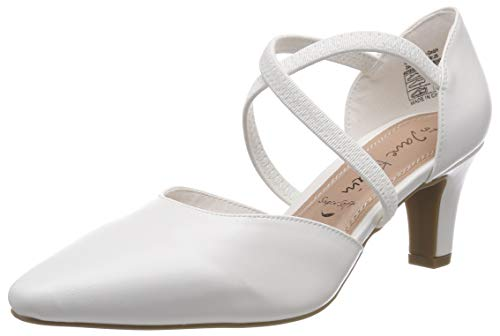 JANE KLAIN Damen 224 790 Riemchenpumps, Weiß (White 105), 40 EU