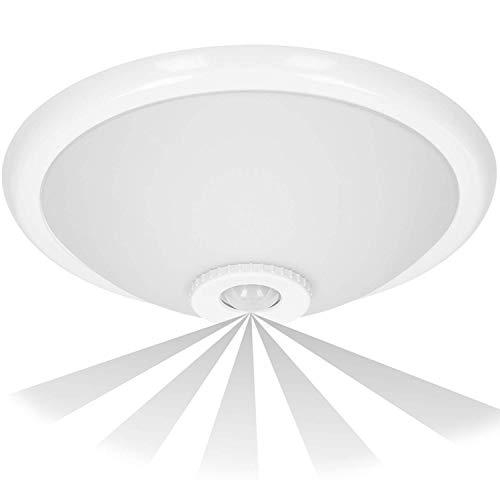 Orno Terral - Lámpara de techo con detector de movimiento y sensor crepuscular para rosca E27, 40 W máx.