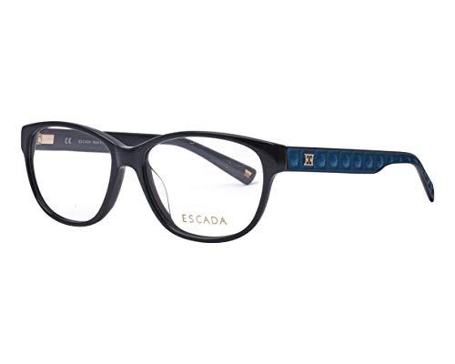 Escada Brille (VES-376 700X) Acetate Kunststoff schwarz - blau matt
