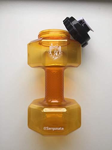 SERGUNATA Botella de agua de 2200 ml, perfecta para deportes de interior y exterior, picnic, senderismo, camping, sin BPA, de plástico PETG