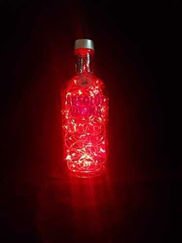 Absolut Vodka – Linterna para botella con 100 ledes, color rojo, idea de regalo