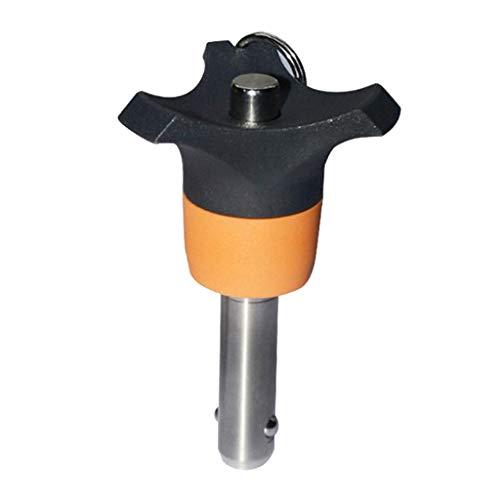 Almencla 6 mm Edelstahl Kugelsperrbolzen Verschlussbolzen, Verschleißfest, Langlebig - 15 mm