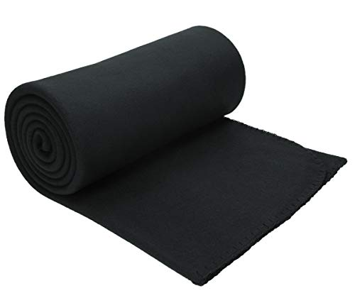 Betz Luxus Fleecedecke Kuscheldecke Wohndecke Farbe schwarz Größe 130x170 cm Qualität 220 g/m²