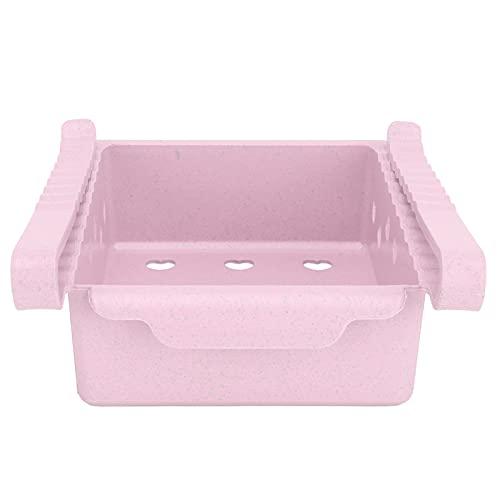 Caja de almacenamiento para frigorífico, tipo cajón, organizadores de frigoríficos, resistentes a bajas temperaturas, para congelador, cocina, para encimeras,(Pink)