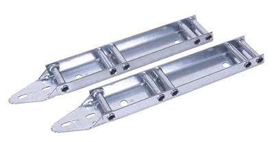 (RB) Garage Door Quick Turn Top Fixture Brackets with 4 Steel Rollers Low Headroom