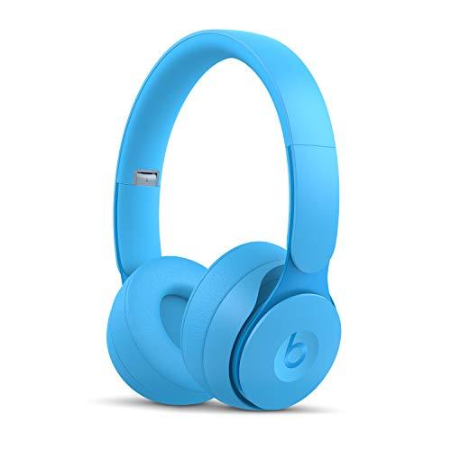 BeatsSoloProKabellose Bluetooth On-EarKopfhörer mit Noise-Cancelling– AppleH1Chip, Bluetooth der Klasse1, aktivesNoise-Cancelling, Transparenzmodus, 22Stunden Wiedergabe– Hellblau