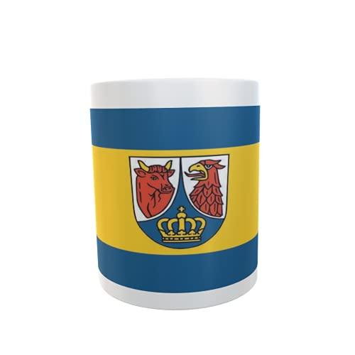 U24 Tasse Kaffeebecher Mug Cup Flagge Landkreis Dahme-Spreewald