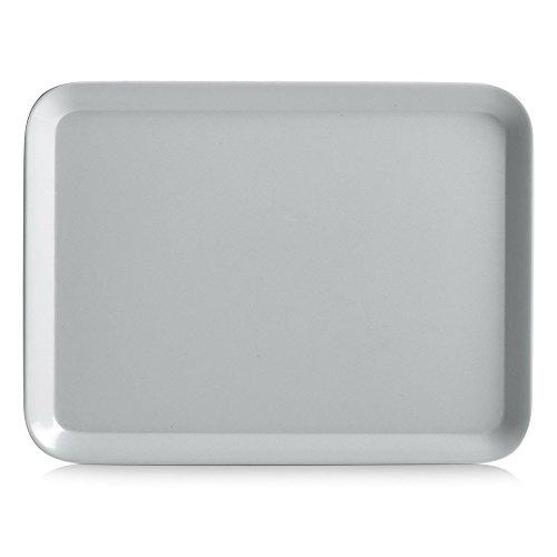 Zeller Melamintablett, Grau, 24 x 18 cm