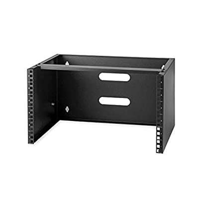 "StarTech.com 6U Wall Mount Network Equipment Rack - 14 inch Deep - 19"" Patch Panel Bracket for Shallow Server Equipment- 44lbs Capacity (WALLMOUNT6)"