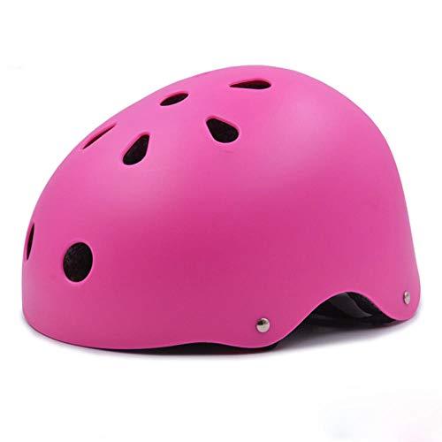 Adult Bike Helmet MTB Bike Helmet Kids/Adults Sport Accessory Cycling Adjustable Head Size Mountain Road Bicycle Skating-Pink_M(55-59CM)