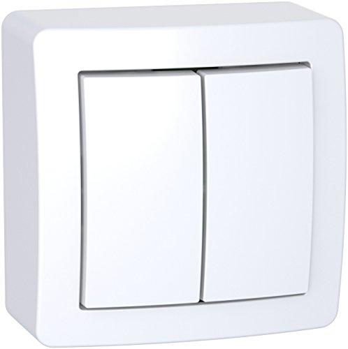 Schneider Electric SC5SHN0262056P Alrea Interrupteur double va et vient, Blanc
