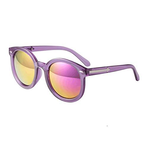 ZXTYJ Gafas de Sol Estilo Aviador de impresión Hawaiana con Lentes polarizadas en Color Naranja espejado y protección UV