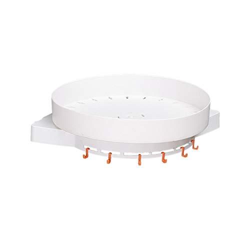 Tablette rotative Etagère triangulaire Support de toilette rotatif sans poinçon Étagère triangle de cuisine Étagère d'angle sur le mur Crémaillère rotative à 360 ° étanche à l'humidité avec trou de vi