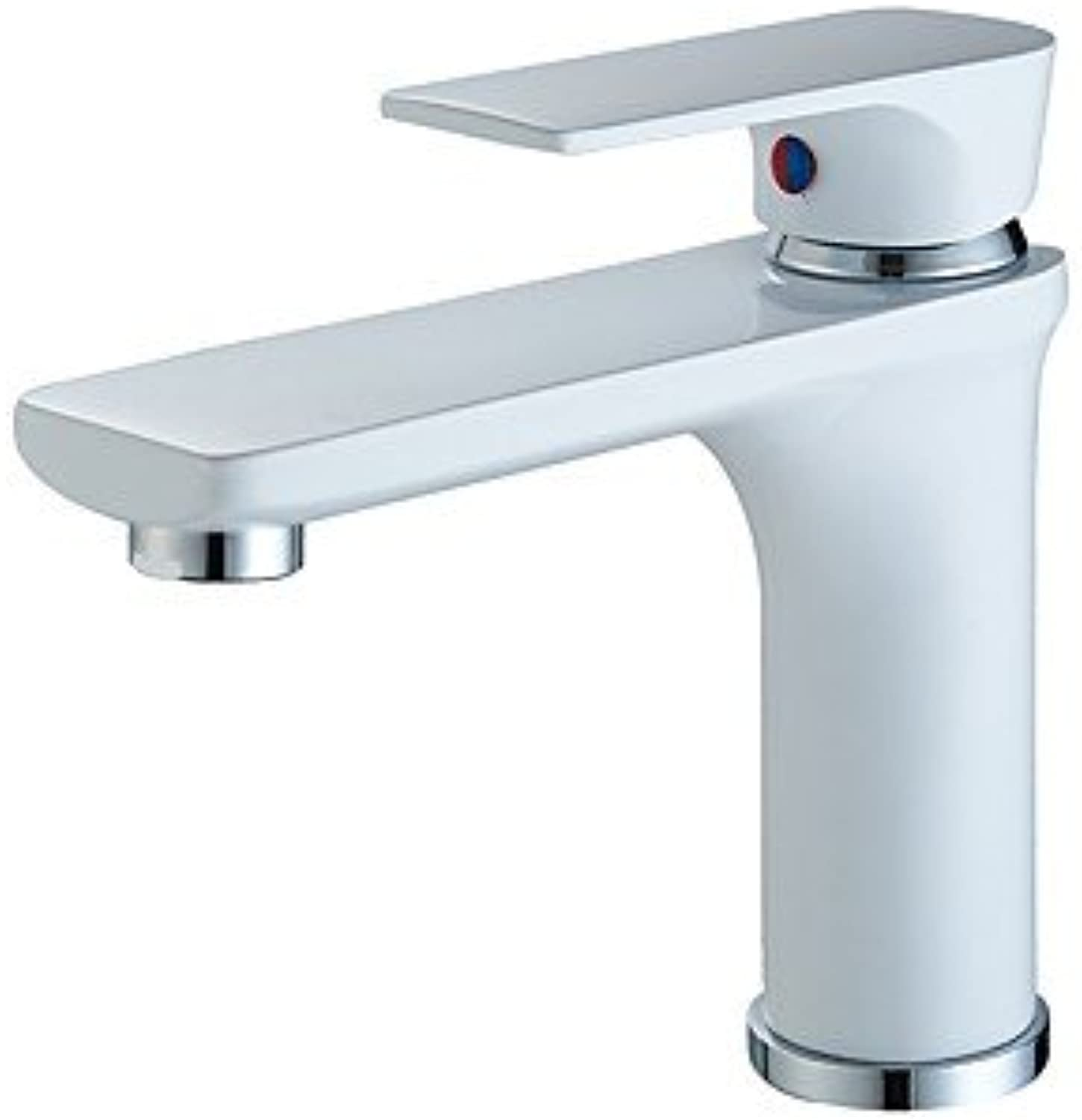 SQL Contemporary Centerset Widespread with Ceramic Valve Single Handle One Hole for Painting , Bathroom Sink Faucet