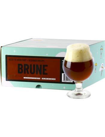 Saveur Cerveza – Receta de Cerveza marrón – Brusca tu Cerveza Brown Ale Maison a Partir de extracto de Malta en Polvo – Recarga Beer Kit de iniciación
