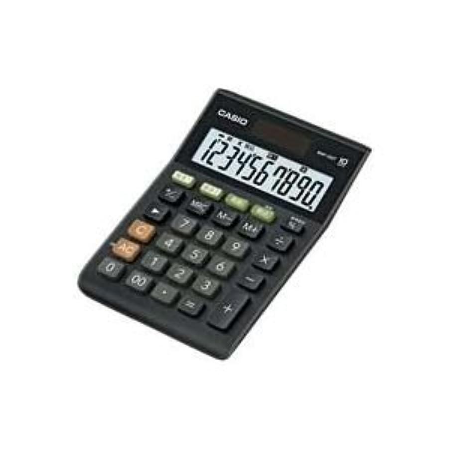 イサカ従来の急襲( お徳用 30セット ) カシオ CASIO W税率ミニジャスト電卓 MW-100T-BK-N