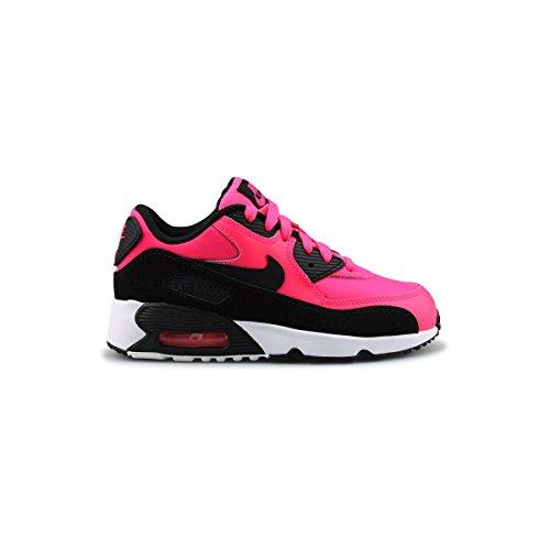 Nike Air MAX 90 Mesh GP, Zapatillas de Gimnasia Niños, Multicolor (Racer Pink/Black/White), 32 EU