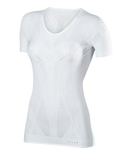 FALKE Damen Kurzarmshirt Cool, Sport Performance Material, 1 Stück, Weiß (White 2860), Größe: XL-XXL