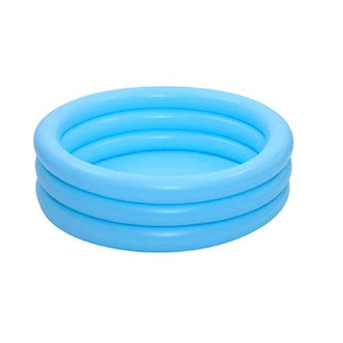 Natación for bebés juguete de la piscina, 3 Anillo inflable de la piscina con la caña de pescar, Cubo, red de pesca piscina Family Fun piscina de baño de hidromasaje Diámetro: 80/100 / 120cm Familia p