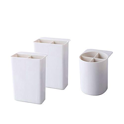 Organizador de 3 piezas, conjunto de caja de almacenamiento de marcadores de lápiz de escritorio Wellerly Cute, organizadores de vasos de escritorio estacionarios multifuncionales para el hogar