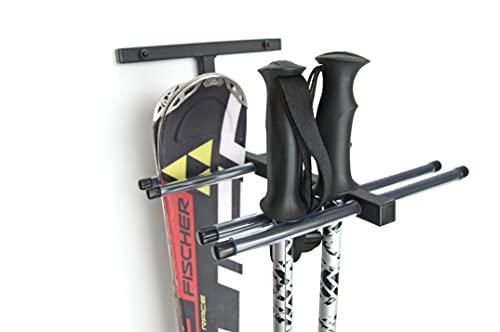 QLS Skihalterung N4 Skiwandhalter Skihalter Skiträger Skiaufbewahrung Für 4 Paare 37 cm