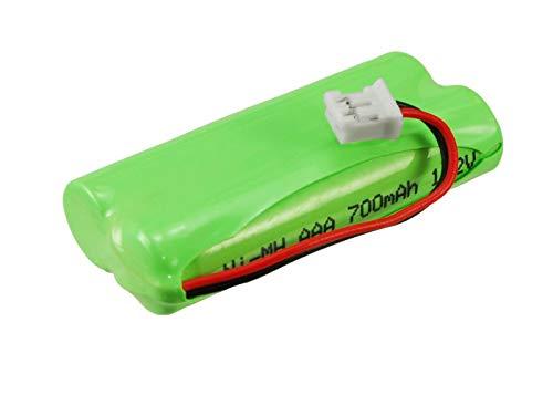 subtel® Batería de Repuesto 2SN-AAA55H-S-JP1 para Sagem D16T Duo 2, D16T Duo, D16T, Sagem D18T, Sagem D21T, 700mAh, Accu Pila Battery