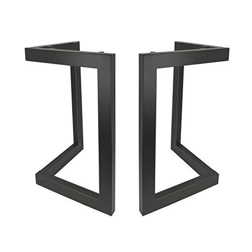 Pied de Table Industriel Pied Meuble en Metal Scandinave 2pcs DIY pour Table Chaise Blanc avec Vis + Protège Pieds…