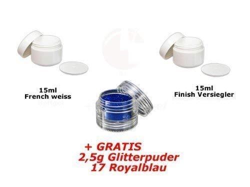 15ml Français Blanc + 15ml FINITION + glitterpuder 17 GRATUIT