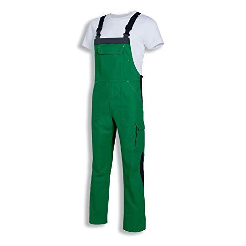 Uvex Perfect 8924 Herren-Arbeitshose - Grüne Männer-Latzhose 52/54