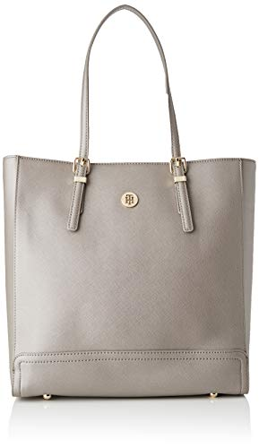 Tommy Hilfiger dames Honey Workbag schoudertas, grijs (Grey Metallic), 33x32x13cm