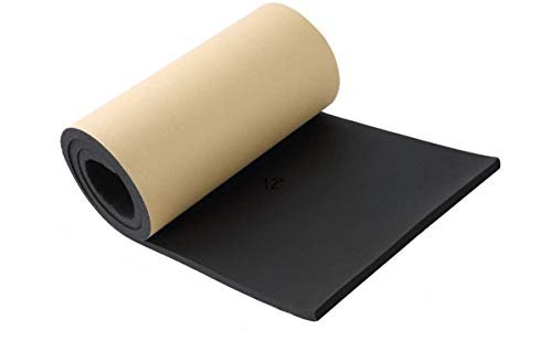 """NATGAI Sponge Neoprene with Adhesive Foam Rubber Sheet 1/2"""" Thick X 12"""" Wide X 54"""" Long, Cut to Multiple Dimensions and Lengths - DIY, Gaskets, Cosplay, Costume, Crafts"""