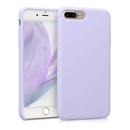 kwmobile Cover Compatibile con Apple iPhone 7 Plus / 8 Plus - Custodia in Silicone TPU - Back Case Protezione Cellulare Lavanda Pastello