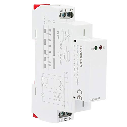 Elektronische vergrendelingsrelais voor DIN-rail-geheugenrelais Impulsrelais GRM8-01 10-12A AC / DC12-240V