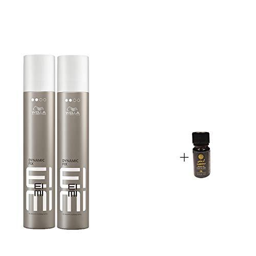 Eimi Dynamic Fix 500ml 45 Sek. Haarspray (2 Stück mit Gratis 5 ml Arganöl)