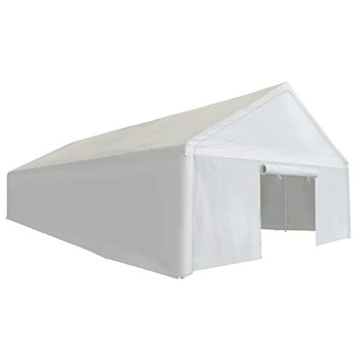 vidaXL Carpa de Almacenamiento Tienda Campamento Refugio Marquesina Garaje para Almacenar Proteger Productos y Artículos PE 6x12m Blanca