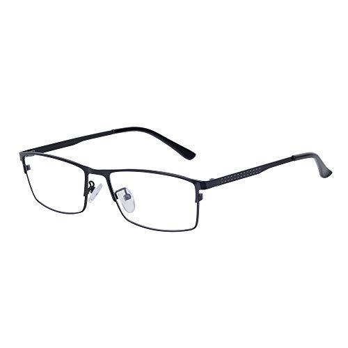 JoXiGo JoXiGo Computerbrille Blaulichtfilter Ohne Stärke für Herren Metall Rechteckig Rahmen Dekogläser Brillenfassungen Auswechselbar Klare Linsen mit Brillenetuis