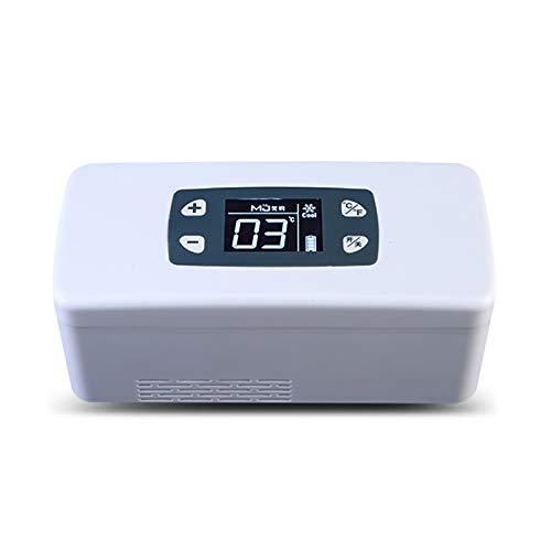 Refrigerador portátil para automóvil, mini refrigerador para medicamentos y enfriador de insulina, mini caja fría, refrigerador portátil para medicamentos a temperatura constante para viajes, hogar
