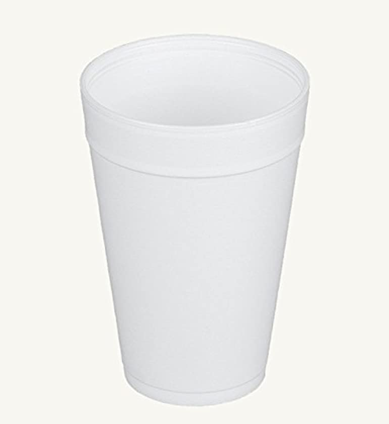 Dart 32TJ32, 32 Oz. Customizable White Foam Plastic Cold And Hot Beverage Cup with Translucent Vented Plastic Lid, Disposable Take Out Drink Cups with Matching Covers (50)