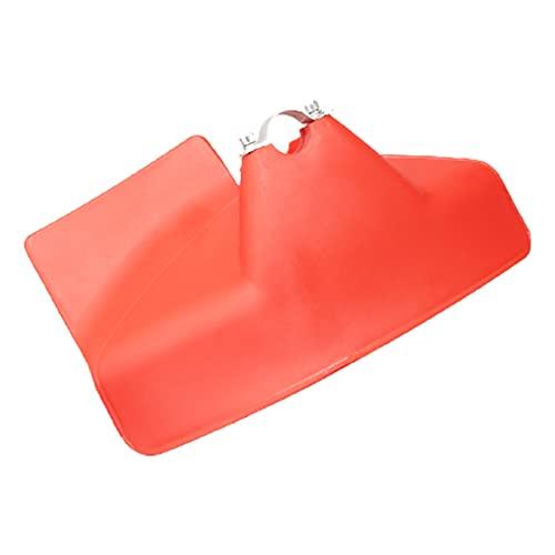 QILIN Accesorios para Cortacéspedes: Protector De Césped, Cubierta Protectora para Cortadora De Jardín, Deflector De Cortadora De Césped, Adecuado para Eje con Diámetro De 26mm / 28mm, Rojo