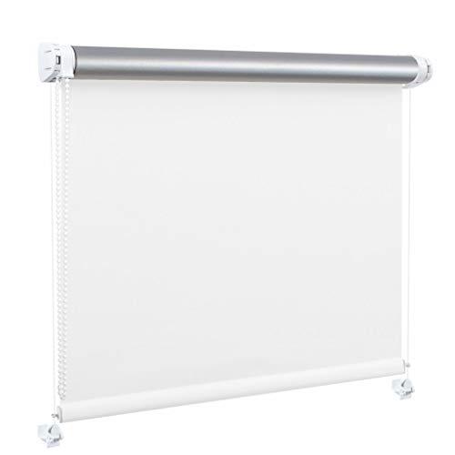 Generisch DECOSTEEL Thermo Rollo Ohne Bohren Thermobeschichtung Wärmedämmung Verdunkelung Weiß [114x150 cm]