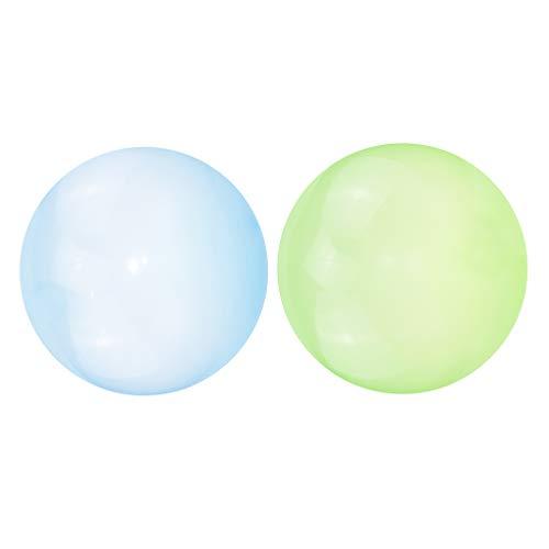 Milageto 2PC Bubble Ball Globo Inflable 30cm Familias Bolas Boda Juguetes para Niños